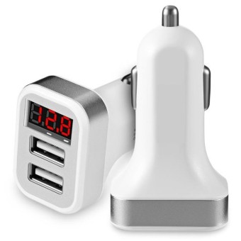 Charger Mobil Car Charger LED Fast Charging Ampere