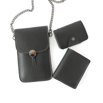 Ciuman perempuan layar sentuh dompet kartu paket telepon dompet
