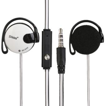 Clip-On Ear Stereo Earphone MP3/4 Ear Hook Headphone Headset with Mic Universal