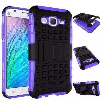 Kompatibel untuk Samsung Galaxy J5 Dual Layer 2 In 1 Karet Kasar Hybrid Pelindung Armor Cover