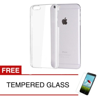 Crystal Case for Apple iPhone 6 Plus / 6s Plus - Clear Hardcase + Gratis Tempered