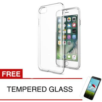 Crystal Case for Apple iPhone 7 - Clear Hardcase + Gratis Tempered Glass
