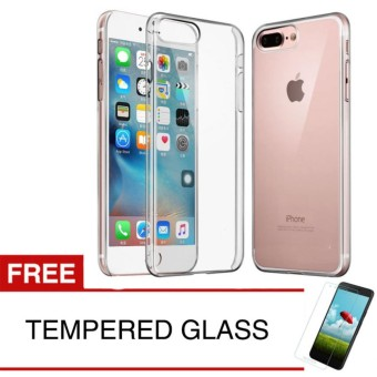 Crystal Case for Apple iPhone 8 Plus - Clear Hardcase + Gratis Tempered Glass