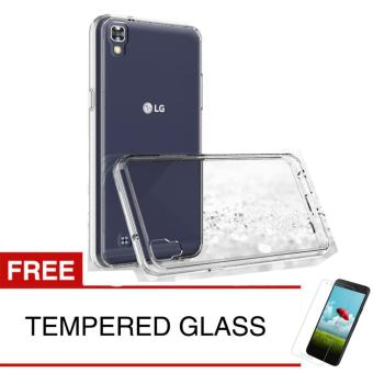 Crystal Case for LG X Power - Clear Hardcase + Gratis Tempered Glass