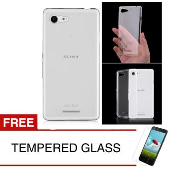Crystal Case for SNY Xperia E3 / D2202 - Clear Hardcase + Gratis Tempered Glass