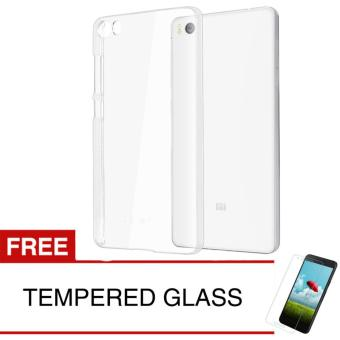 Crystal Case for Xiaomi Mi 5 - Clear Hardcase + Gratis Tempered Glass