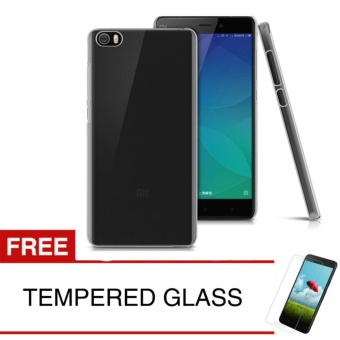 Crystal Case for Xiaomi Mi Note Pro / Bamboo - Clear Hardcase + Gratis Tempered Glass