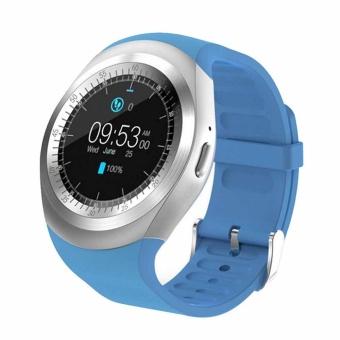 Cusepra Y1 Watch Pintar Telepon Dukungan Kartu SIM TF Bluetooth Tahan Air Ring Bulat Jam Tangan