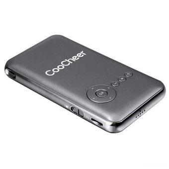 Cyber COOCHEER rumah kolam Mini portabel isi ulang Wifi Smart DLP proyektor EU (abu-