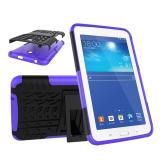 Mempesona butir 2-in-1 Protection Shell Case belakang untuk Samsung Galaxy Tab3 Lite T110 T116 (ungu)- International - 2