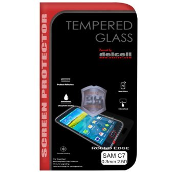 Delcell for Samsung Galaxy C7 Tempered Glass Screen Protector
