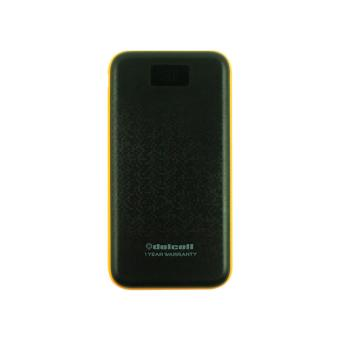 Delcell NUMERO Powerbank 10500mAh Real Capacity Digital Display - Black Orange