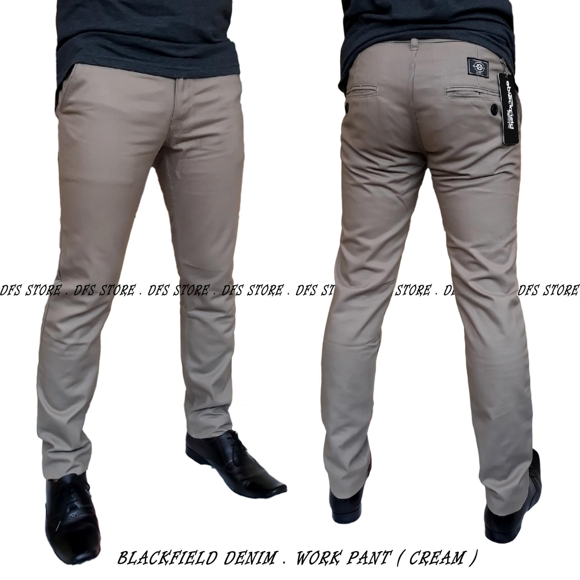 Cek Harga Baru R S T Celana Chino Pria Formal Premium Panjang Krem Polos Dfs Blackfield Kantor Cream