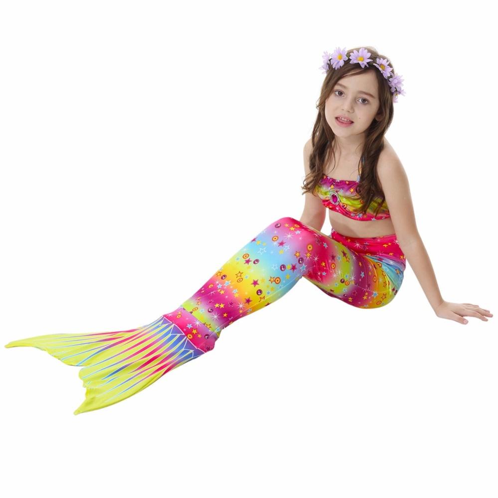 Cek Harga Baru Dn Putri Duyung Girls Berenang Mermaid Tail Cosplay Baju Renang Ikan 4 11y Baby Girl Swimmable Pakaian Bikini Fancy Multicolor
