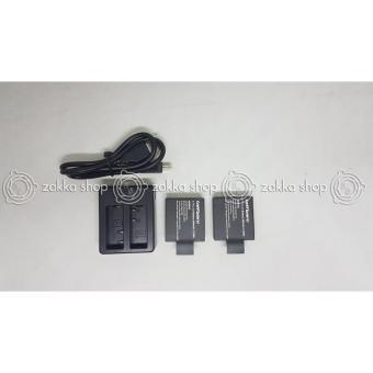 Dual Desktop Charger+Baterai/Battery U/ SJCAM SJ4000/SJ5000 + Brica Bpro