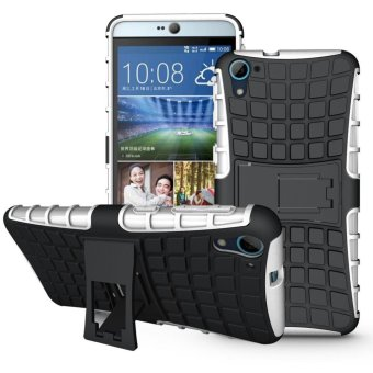 Dual Layer Case Cover untuk HTC DESIRE 826 Heavy Duty Armor Tough Shock-Resistant Stand