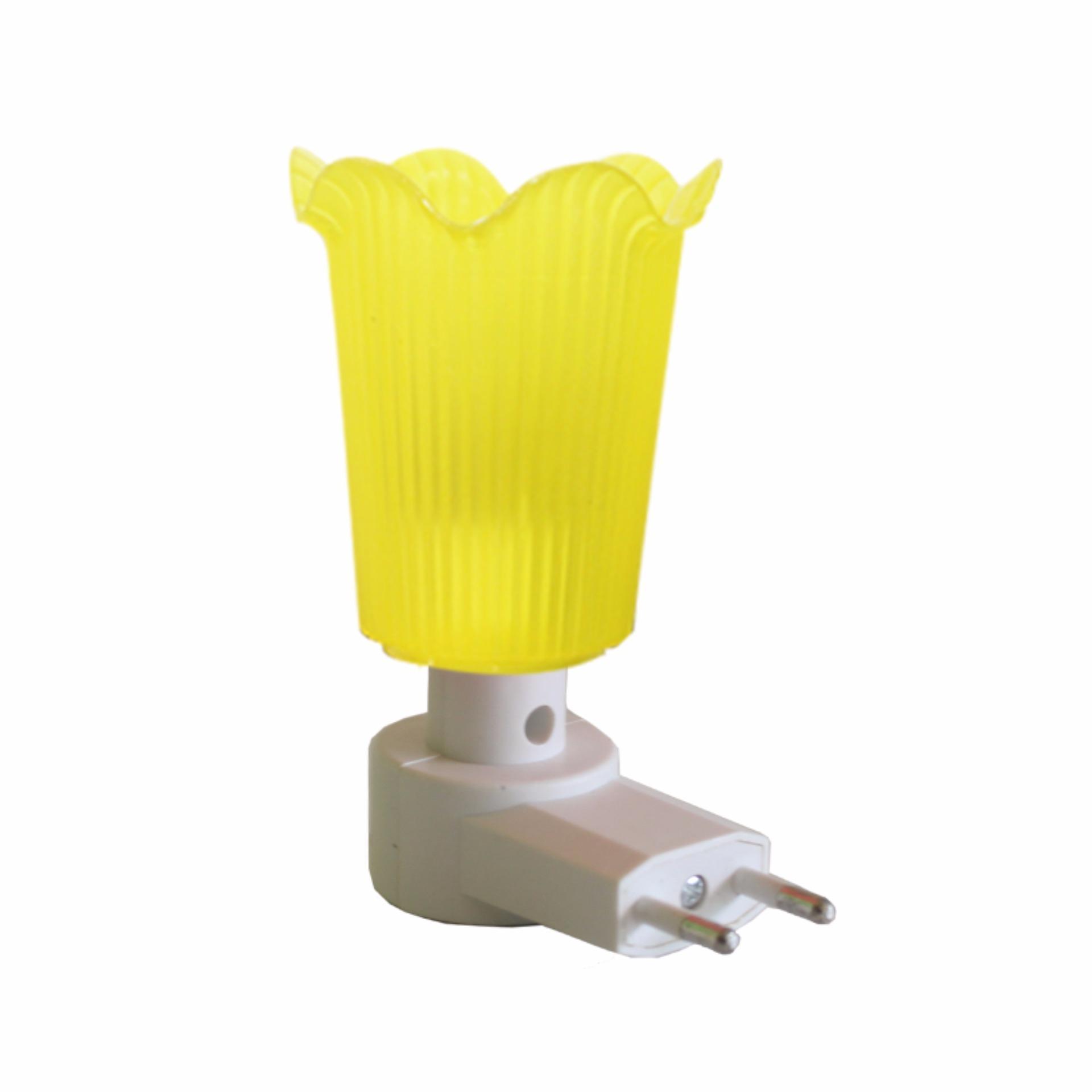 EELIC LAU-JM995 KUNING Mini Lamp Lampu Tidur Model Bunga Cantik Malam Hari