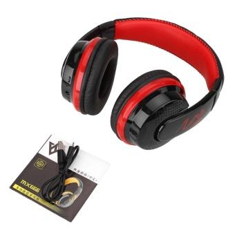 ... EfashionMall Earphone Wireless Super Bass Stereo Bluetooth Handband Headphone dengan MIC untuk Ponsel Intl