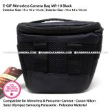 ... EGIF MR-10 Black Mirrorless + Prosumer Camera Bag for Canon Nikon Sony Olympus Panasonic ...
