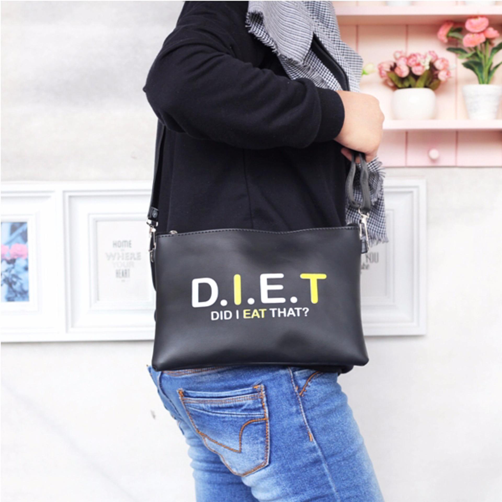 EL PIAZA Diet Women Clutch Bag - Sling Bag Tas Genggam ToteBag Lucu Tas Jalan Jalan