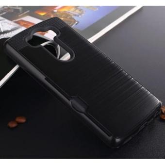Elaike Case untuk LG V10 Armor Logam Silikon TPU + Hard PC Shockproof Card Slot Case