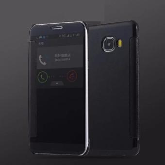 Executive Chanel Case Samsung Galaxy J7 Prime Flipcase Flip Mirror Cover S View Transparan Auto Lock