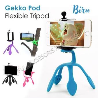FAK Mini Flexible Tripod Gekko Pod - Biru