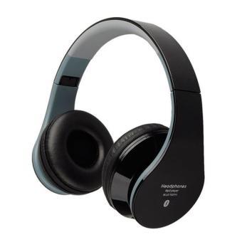 Fashion innovative bluetooth headset outdoor sports wireless bluetooth headphones - black - intl