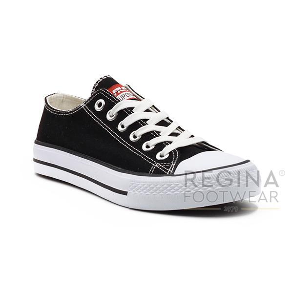 Faster Sepatu Sneakers Kanvas Pria 1603-01 - Hitam/ Biru/ Merah Size 40