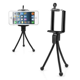 Fleksibel Mini Tripod dengan Clip Holder untuk Ponsel/Kamera (Hitam)-Intl