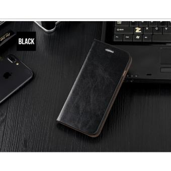 Flip Cover Wallet Leather Hard Case Casing Samsung Galaxy Note 8 - Hitam