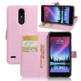 ... Flip Magnetic Card Dompet Kulit Case Stand Cover untuk LG K10 2017 LG LV5 Pink- ...