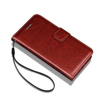 Flip Wallet Leather Case untuk Samsung Galaxy S7 Edge G9350 dengan Kartu Slot Bingkai Foto Crazy