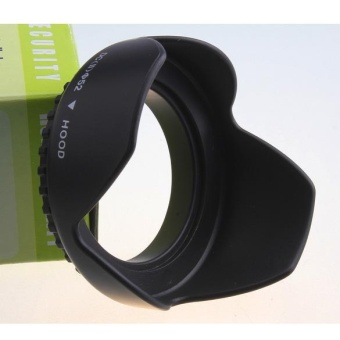 Flower Petal Camera Lens Hood for Nikon Canon Sony 52mm (Black) -intl