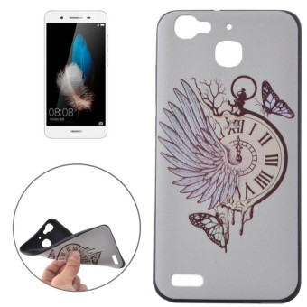 For Huawei Enjoy 5s / GR3 Pocket Watch Pattern Soft TPU Protective Back Cover Case -