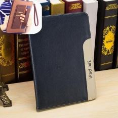 untuk IPad 2/3/4 Cover Case dengan Gelang Gelang Bangun Fold Stand Leather