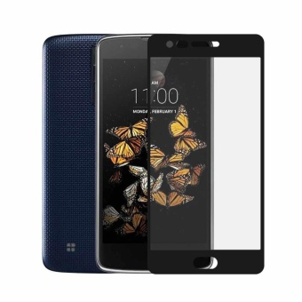 For LG K8 2017 Full-Cover Tempered Glass Screen Protector Film Pelindung Layar