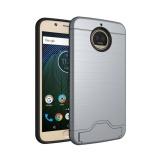 For Motorola MOTO G5s Plus [Kartu Brush] PC + TPU Hybrid Back Armor Cover ...