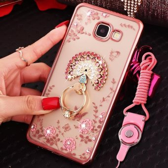 For Samsung Galaxy A7 2017 Soft Phonecase Lady Phone Case Cover Casing With Ring Holder -