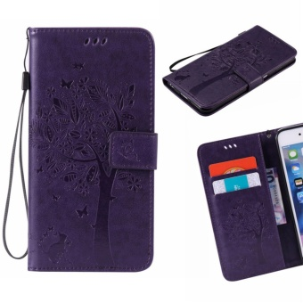 """untuk Samsung Galaxy J7 2015/SM-J700 (5.5 \""\"") Case Cover Classic Fashion Style Dompet Flip Stand PU Leather Mobile Phone Case (KT707/Ungu)- Intl\"""