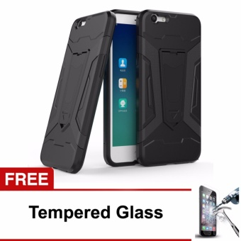 Free Tempered Glass Case Transformer Kickstand Slim Armor Hardcase for Oppo F1s / A59