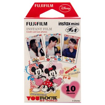 Fujifilm Refill Instax Mini Film Mickey Rock My World - 10 Lembar