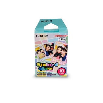 Fujifilm Refill Instax Mini Film Stained Glass - 10 Lembar