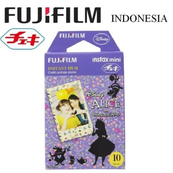 Fujifilm Refill Kamera Instax Mini Film Camera Alice in Wonderland Film 10 Lembar