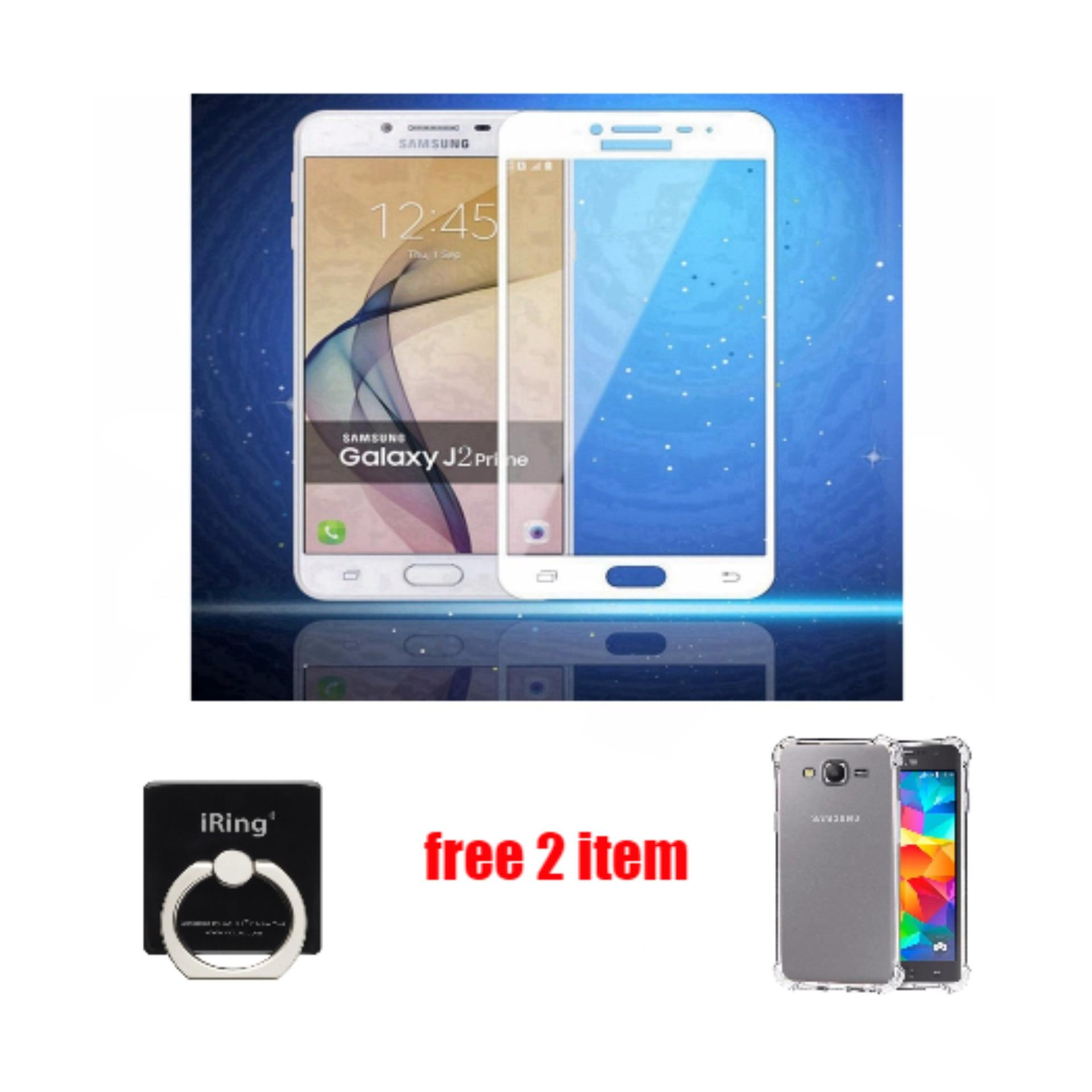 Full Tempered Glass Samsung Galaxy J2 Prime Free Iring + Anticrack