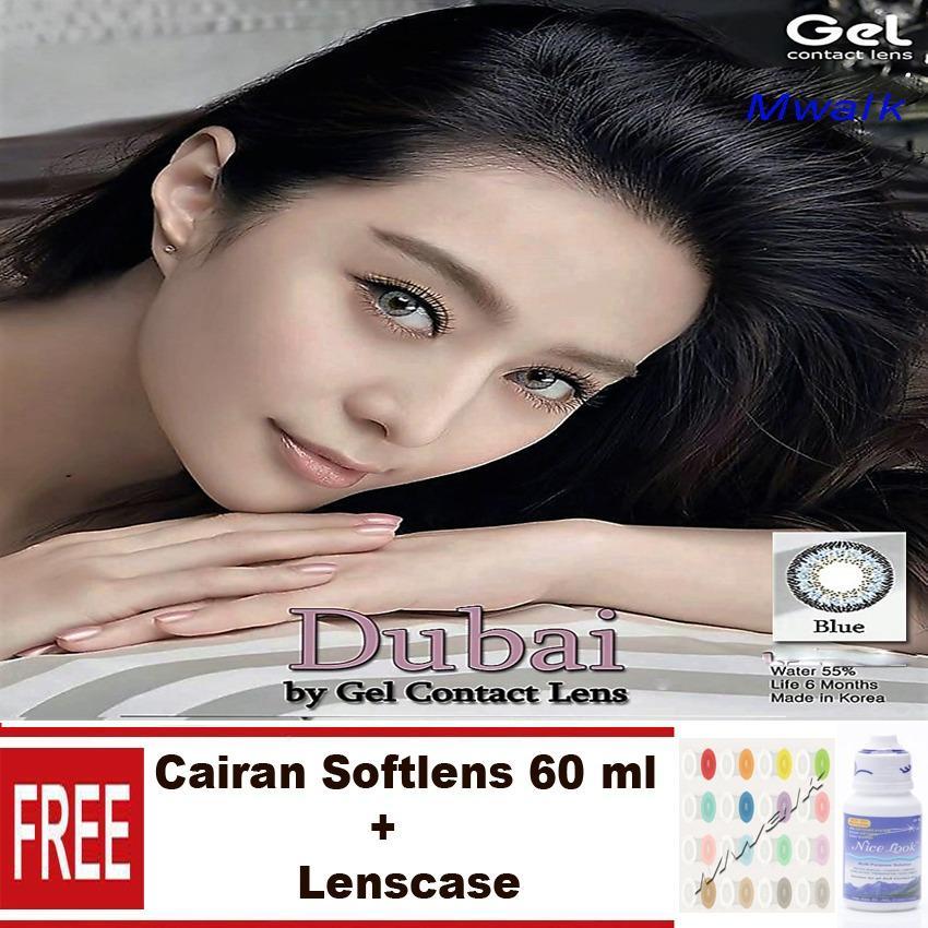 Gel New Dubai Softlens + Free Lenscase + Cairan 60ml