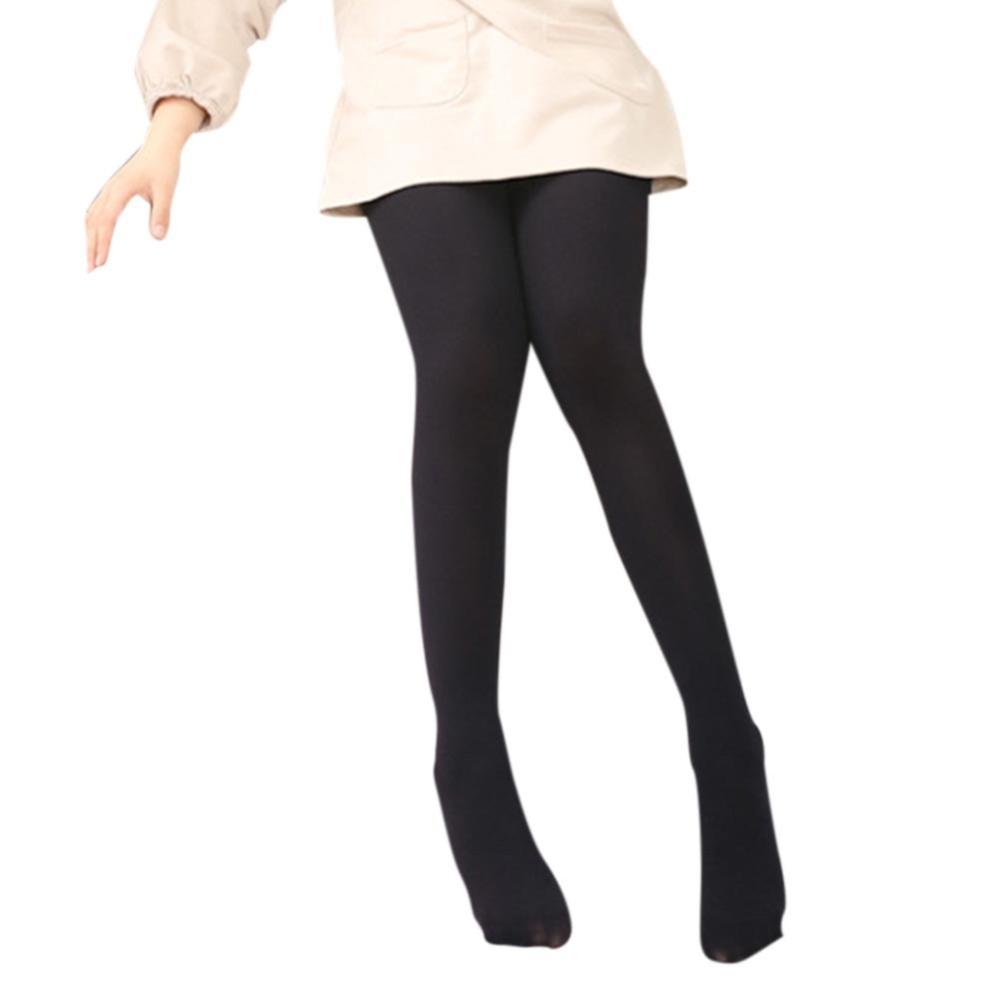 Perempuan Footed Pantyhose Warna Polos Semua-Cocok Elastisitas Tinggi Bottoming Kaus Kaki Anti-Kait