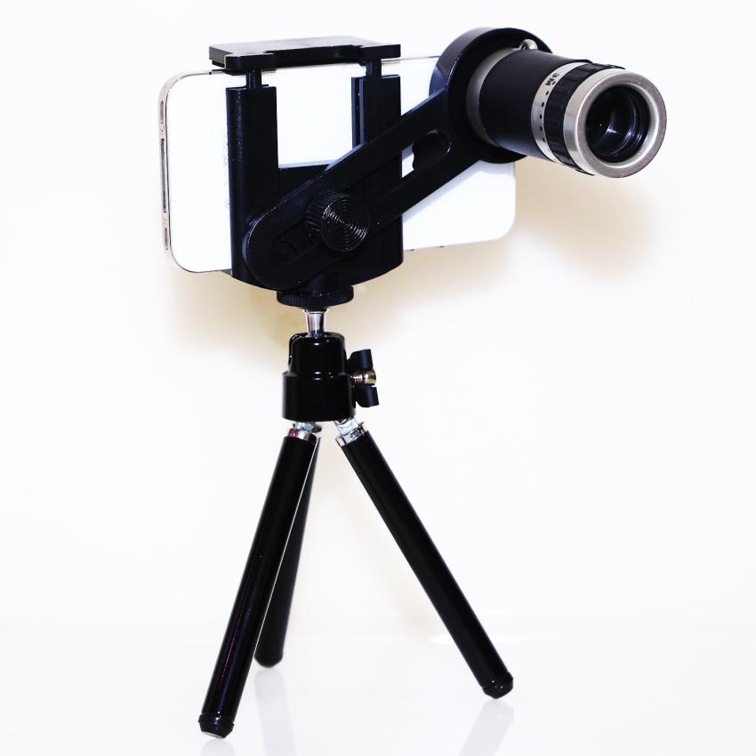 Gambar Produk Rinci Goshop Tele Lens Quality Telescope 8x Zoom Telezoom for Smartphone - Hitam Terkini