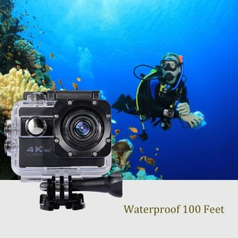 Grade AA Action Camera 4K+ UltraHD - 16MP - WIFI - Hitam