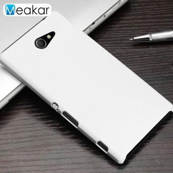 Grind Arenaceous Keras Plastik Cangkang 4.8 Ponsel Sampul Belakang Case untuk Sony Xperia M2/Sony